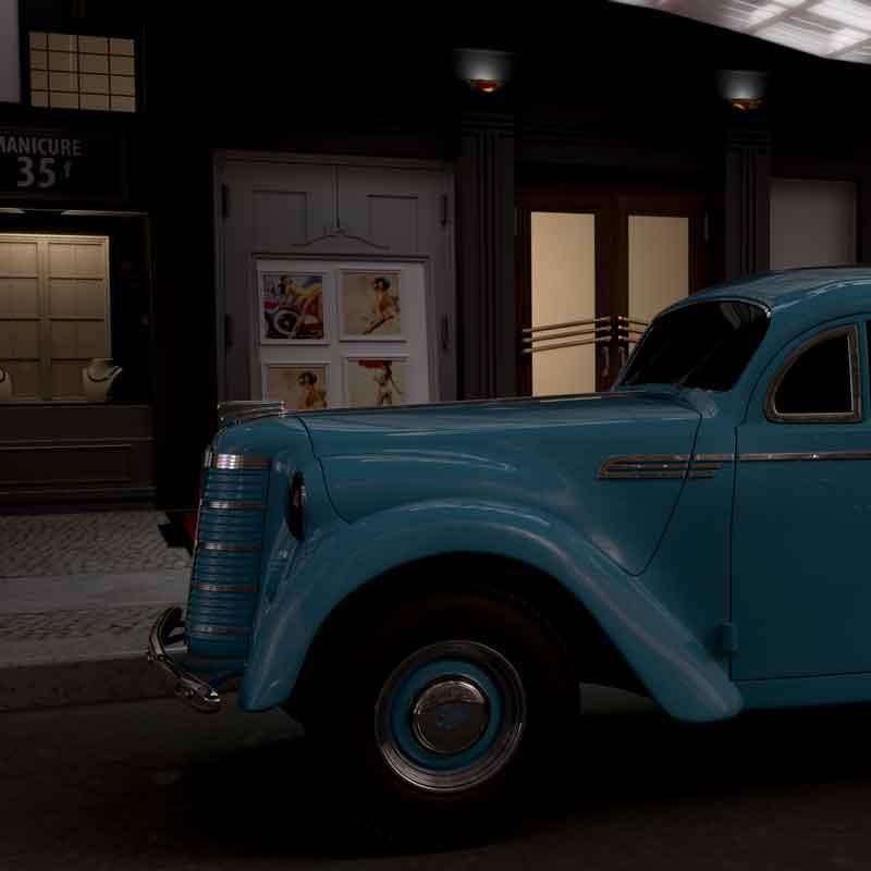 Film Production Company LONDON CALIFORNIA CUTTING FACTORY CAR