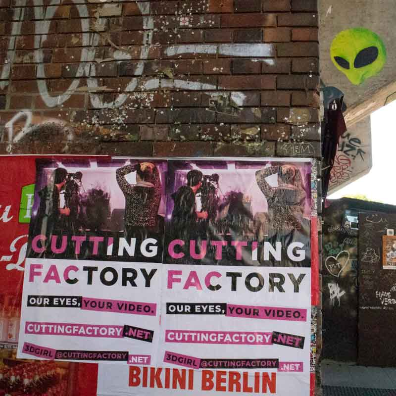 3D ANIMATION BERLIN LONDON CALIFORNIA CUTTING FACTORY POSTER
