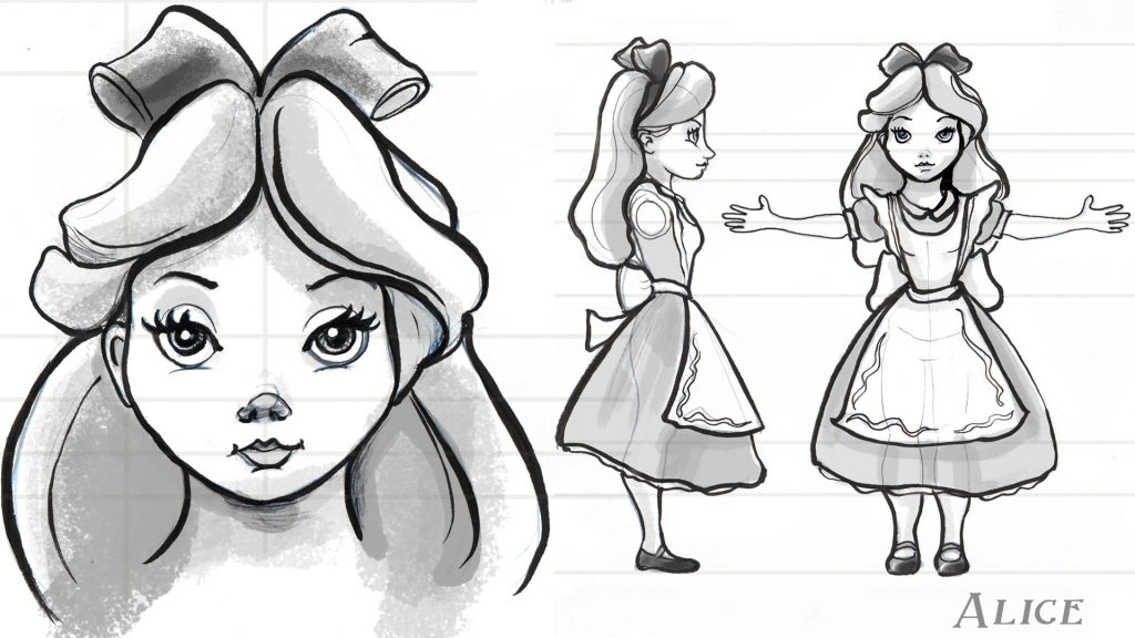 Character animation for concept art