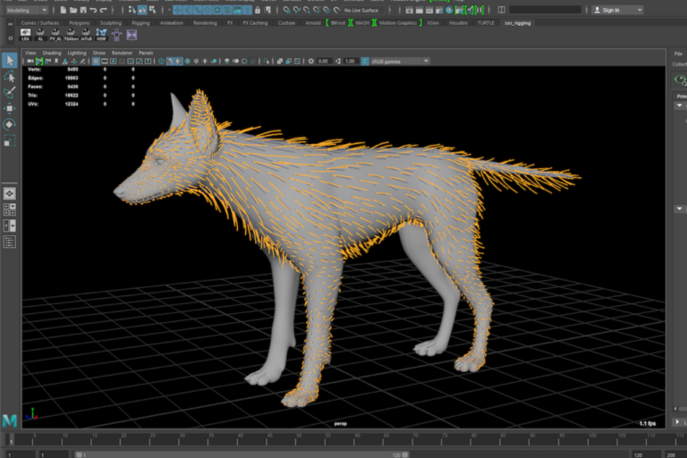 Creating a coyote hair with particle systems